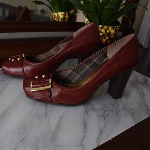 Nine West Burgundy Heels- Size 9- New!